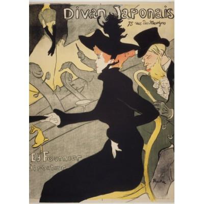 Puzzle Grafika-Kids-00455 Magnetische Teile - Henri de Toulouse-Lautrec: Divan Japonais, 1892-1893