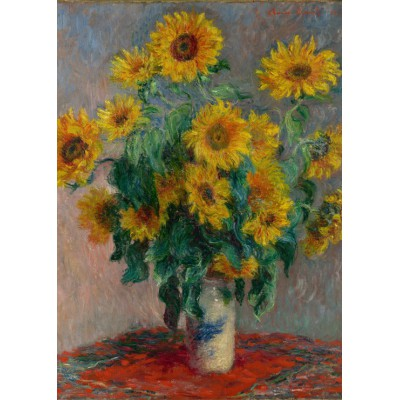 Puzzle Grafika-Kids-00459 Magnetische Teile - Claude Monet: Bouquet of Sunflowers, 1881