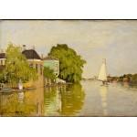 Puzzle  Grafika-Kids-00482 Claude Monet: Houses on the Achterzaan, 1871