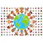 Puzzle  Grafika-Kids-00545 SOS MEDITERRANEE - Kinder aller Länder
