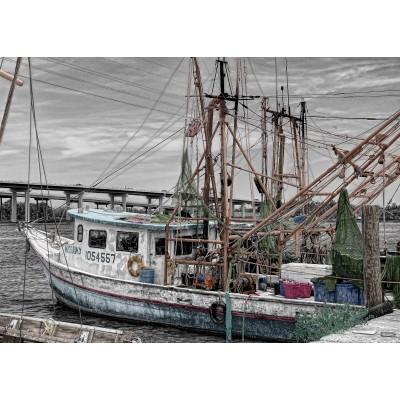 Puzzle Grafika-Kids-00568 Magnetische Teile - Fischerboot