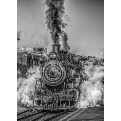Puzzle Grafika-Kids-00613 Magnetische Teile - Dampflokomotive