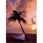 Puzzle  Grafika-Kids-00623 Magnetische Teile - Sonnenuntergang im Paradies