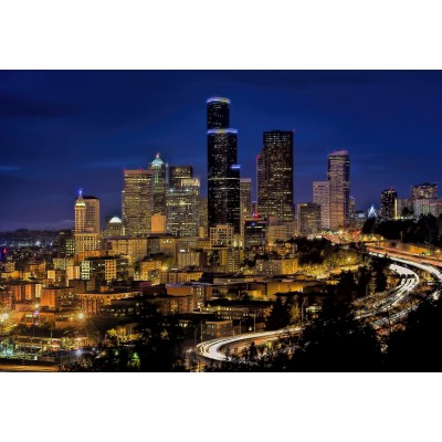 Puzzle Grafika-Kids-00680 XXL Teile - Seattle by Night