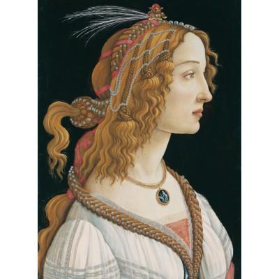 Puzzle Grafika-Kids-00694 Sandro Botticelli: Porträt einer jungen Frau, 1494