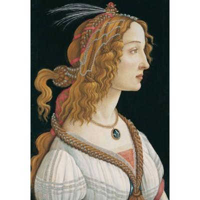 Puzzle Grafika-Kids-00695 Sandro Botticelli: Porträt einer jungen Frau, 1494