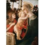 Puzzle  Grafika-Kids-00704 Sandro Botticelli: Jungfrau und das Kind mit Johannes, 1470-1475