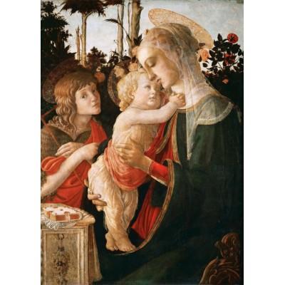 Puzzle Grafika-Kids-00705 Magnetische Teile - Sandro Botticelli: Jungfrau und das Kind mit Johannes, 1470-1475