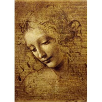 Puzzle Grafika-Kids-00713 Leonardo da Vinci: Gesicht der Giovane Fanciulla, 1508