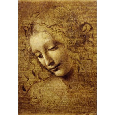 Puzzle Grafika-Kids-00715 XXL Teile - Leonardo da Vinci: Gesicht der Giovane Fanciulla, 1508