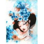 Puzzle  Grafika-Kids-00741 Misstigri: Blue Flowers