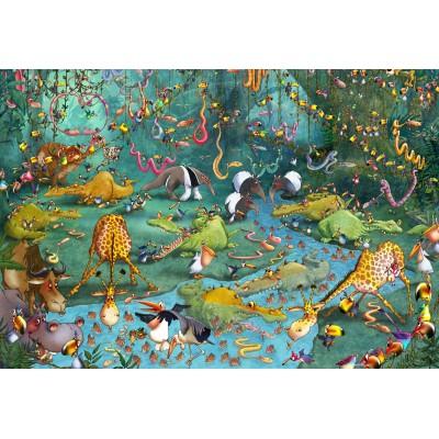 Puzzle Grafika-Kids-00806 XXL Teile - François Ruyer: Jungle