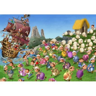 Puzzle Grafika-Kids-00845 François Ruyer: Piraten
