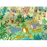 Puzzle  Grafika-Kids-00876 François Ruyer: Jungle