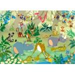 Puzzle  Grafika-Kids-00877 Magnetische Teile - François Ruyer: Jungle