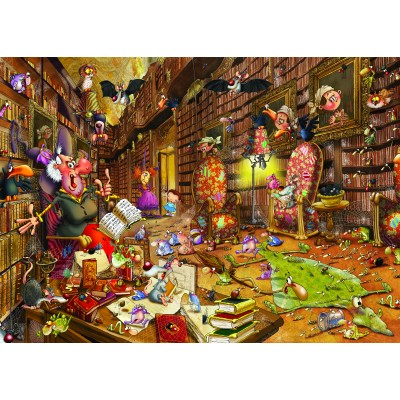 Puzzle Grafika-Kids-00897 Magnetische Teile - François Ruyer: Hexe