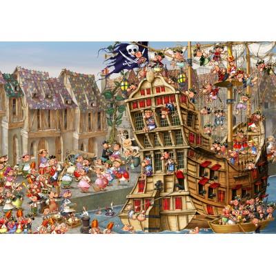 Puzzle Grafika-Kids-00900 François Ruyer: Piraten