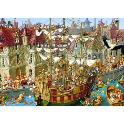 Puzzle Grafika-Kids-00906 François Ruyer: Kaninchen!