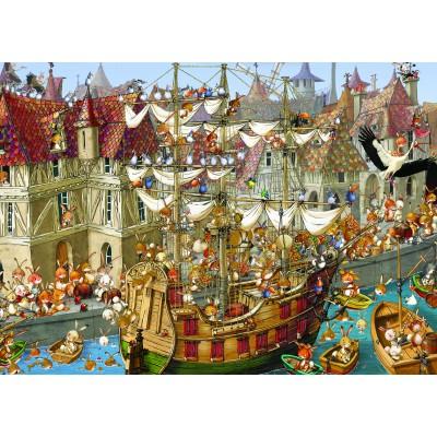 Puzzle Grafika-Kids-00907 Magnetische Teile - François Ruyer: Kaninchen!