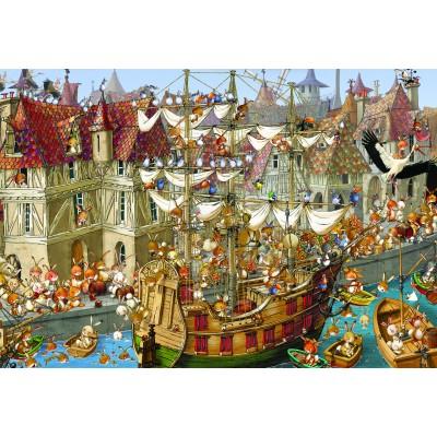 Puzzle Grafika-Kids-00908 XXL Teile - François Ruyer: Kaninchen!