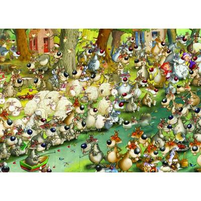 Puzzle Grafika-Kids-00917 Magnetische Teile - François Ruyer: Wölfe!