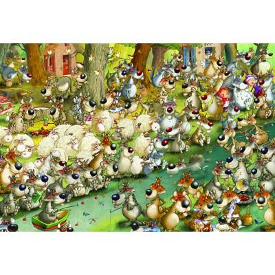 Puzzle Grafika-Kids-00918 XXL Teile - François Ruyer: Wölfe!