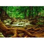 Puzzle  Grafika-Kids-00927 Wasserfall im Wald