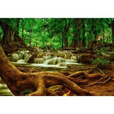 Puzzle Grafika-Kids-00929 XXL Teile - Wasserfall im Wald