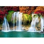Puzzle  Grafika-Kids-00986 Wasserfall im Wald