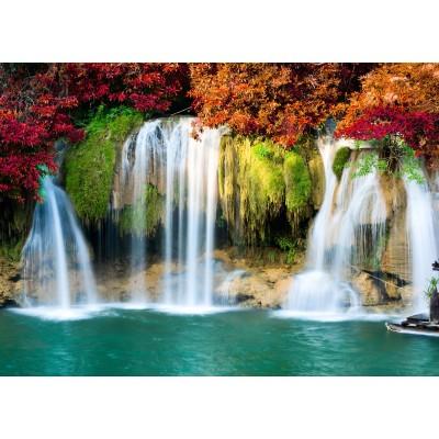 Puzzle Grafika-Kids-00987 Magnetische Teile - Wasserfall im Wald