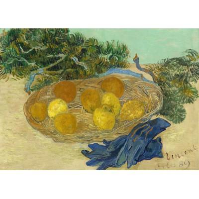 Puzzle Grafika-Kids-01001 Magnetische Teile - Vincent Van Gogh - Still Life of Oranges and Lemons with Blue Gloves, 1889