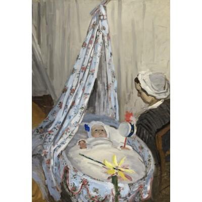 Puzzle Grafika-Kids-01016 XXL Teile - Claude Monet - Die Wiege, Camille mit dem Sohn des Künstlers Jean, 1867