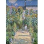 Puzzle  Grafika-Kids-01019 Claude Monet - Garten des Künstlers in Vétheuil, 1880