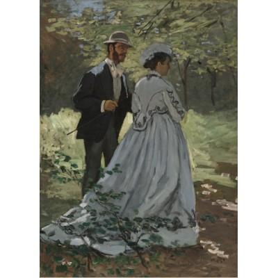 Puzzle Grafika-Kids-01022 Magnetische Teile - Claude Monet - Bazille und Camille, 1865