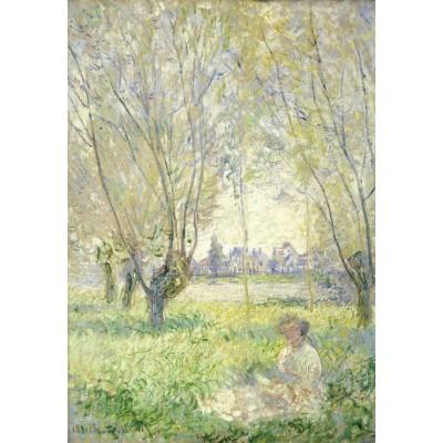 Puzzle Grafika-Kids-01029 Claude Monet - Frau unter Weiden sitzend, 1880