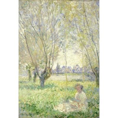 Puzzle Grafika-Kids-01032 XXL Teile - Claude Monet - Frau unter Weiden sitzend, 1880