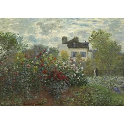 Puzzle Grafika-Kids-01039 Claude Monet - Der Garten des Künstlers in Argenteuil, 1873