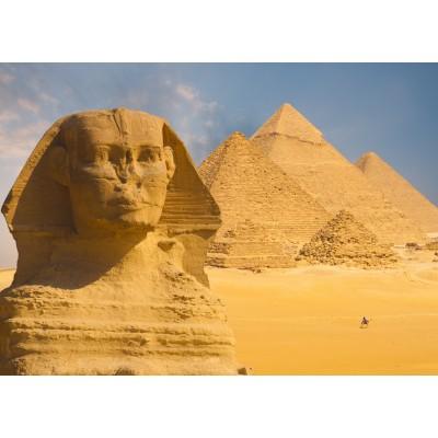 Puzzle Grafika-Kids-01140 Magnetische Teile - Sphinx und Pyramiden von Gizeh