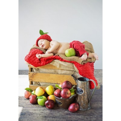 Puzzle Grafika-Kids-01149 Konrad Bak: Baby and Apples