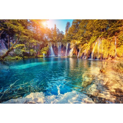 Puzzle Grafika-Kids-01191 XXL Teile - Nationalpark Plitvicer Seen, Kroatien