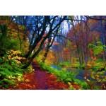 Puzzle  Grafika-Kids-01200 Wald Herbst Stilisierte