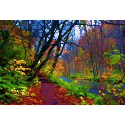 Puzzle Grafika-Kids-01203 XXL Teile - Herbstwald
