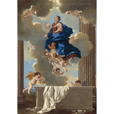 Puzzle Grafika-Kids-01204 Nicolas Poussin: The Assumption of the Virgin, 1630/1632