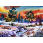 Puzzle  Grafika-Kids-01210 Magnetische Teile - Winter Water