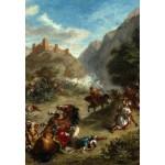 Puzzle  Grafika-Kids-01291 Eugène Delacroix: Arabs Skirmishing in the Mountains, 1863