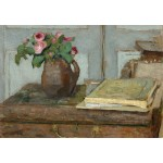 Puzzle  Grafika-Kids-01296 Edouard Vuillard: The Artist's Paint Box and Moss Roses, 1898