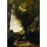 Puzzle  Grafika-Kids-01344 Jean-Baptiste-Camille Corot: Saint Sebastian Succored by the Holy Women, 1874
