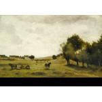 Puzzle  Grafika-Kids-01348 Jean-Baptiste-Camille Corot: View near Epernon, 1850-1860