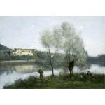 Puzzle  Grafika-Kids-01355 Jean-Baptiste-Camille Corot: Ville-d'Avray, 1865