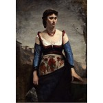 Puzzle  Grafika-Kids-01357 Jean-Baptiste-Camille Corot : Agostina, 1866